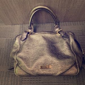 Auth. Metallic Burberry satchel